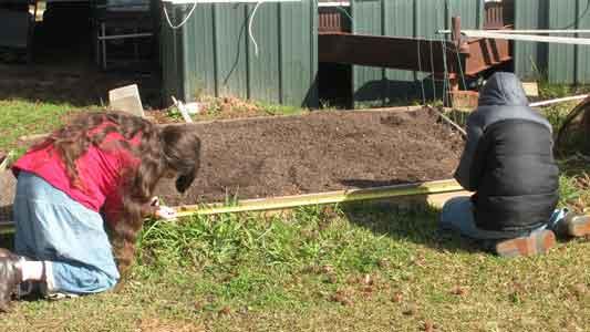 Measuring The Garden Bed