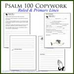 Psalm 100 Copywork