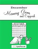December Memory Gems & Copywork