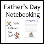 Father's Day Notebooking Pages
