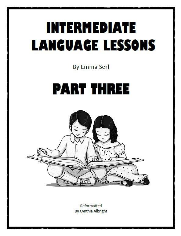 Intermediate Language Lessons Workbook Part 3