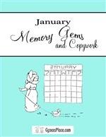 January Memory Gems & Copywork