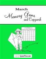 March Memory Gems & Copywork