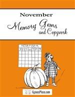 November Memory Gems & Copywork