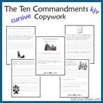 Ten Commandments Copywork