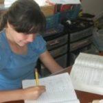 MaryEllen Finished Her Math Book - Saxon 65!