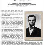Abraham Lincoln's Gettysburg Address Copywork