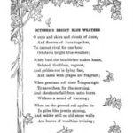 October's Bright Blue Weather Poem
