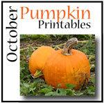 October Printables On Pumpkins